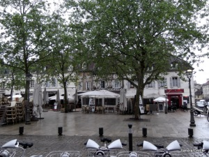 Place Emile Zola would be lovely on a sunny day.  Plenty of open air restaurants.