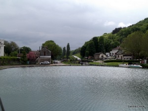 Facing the lock at Plombiere
