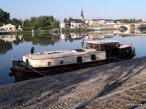 Ready for an early start down the Saone