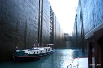 Bollene, one of the deepest locks in Europe.