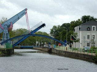 One of three bridges approaching the centre of Montceau les Mines