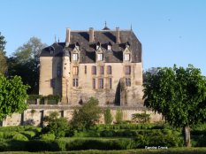 Chateau in morning sunlight