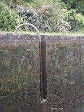 Sliding pole on automated locks 6 and 7 7