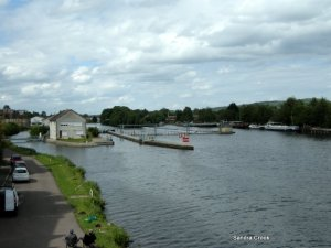 The lock leading out of Auxerre.