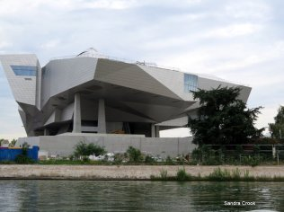 The building at the confluence of the Saone and Rhone
