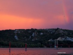 A stormy evening on the Rhone, France