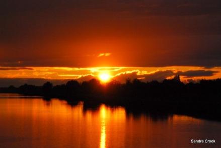 rhone a sete sunset